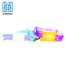 New design widely use event nfc wristband rfid woven wristband price