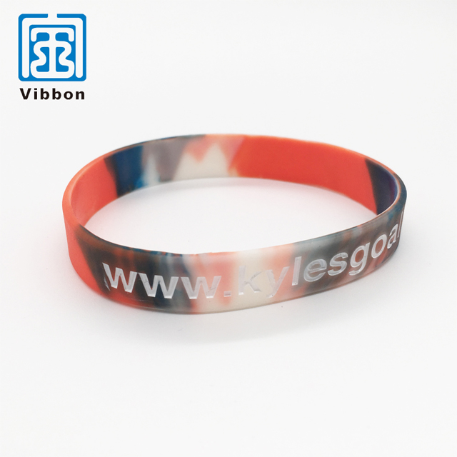 New style factory supply popular wrist bands silicone rubber
