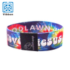 Custom printed your own logo elastic wristband for promotion