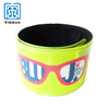 custom reflective silicon & pvc slap wristband for promotion